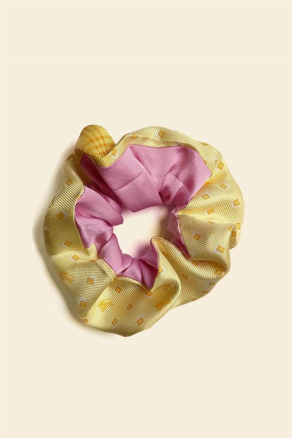 chouchou-rose-jaune